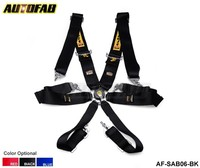 AUTOFAB - 2014 New 6-Point Racing Seat Belt / with 6 pcs FIA Approved Expiry 2019 AF-SAB06 Default color is Black