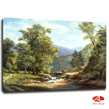 Hand painted paintings landscape/Natural scenery painting canvas of wall art