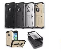 Hot sale Shockproof Tough Armor kickstand Hard pc Shell Case tpu case Back Cover For iPhone 6 4.7 Factory Wholesale