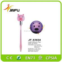 Pig shape animal pens light music pen