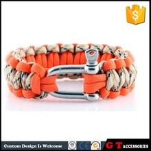 Fashion 7 Core 550 Paracord Survival Bracelet With Stainless Steel Buckle, Women Men Outdoor Sport Bracelet