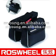 Bicycle frame double bag