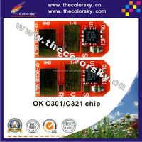 (TV-OC301) compatible toner cartridge reset chip for OKI MC332dn MC342dn MC 332dn MC 342dn MC332 MC342 MC 332 342 2.2k/1.5k kcmy