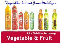 Mixed fruit and vegetable juice suspending agent