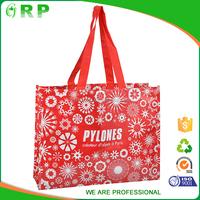 Customized Eco recycle pp woven cloth shopping bag handbag