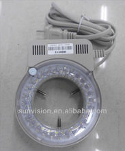 Microscope LED ring light/Long-life LED light source for microscope, Brightness adjustment, with switch and adapter