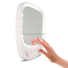 Promotional compact mirrors wall-mounting with LED lights waterproof design and 3X magnification