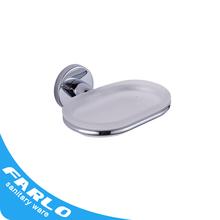 FUAO modern pretty neat corner shower glass soap dish with drain