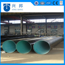 DN250 mm black directly buried ERW welded pipeline with 3pe coating