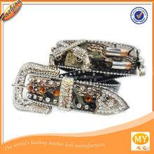 Newest hot sale fancy rhinestone leather women fashion belt