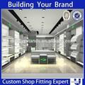 venta al por menor de la pared de madera estante de exhibición de los zapatos de tienda de muebles