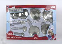 utensilios de cocina de acero inoxidable de los juguetes
