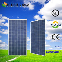 Bluesun chinese factory price 25 years' warranties polycrystalline 300w sunpower pv solar panel prices m2