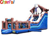 inflatable dog slide with obstacle. commercial grade PVC giant inflatable slide