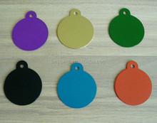 ASNY pet tags id custom round tags single sided diamond engraved dog cat name