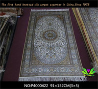 100% hand woven persian silk carpet best quality indian hand knotted rugs