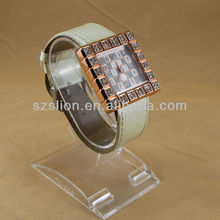 Diamond Classic Watches With Leather Band Alloy Case