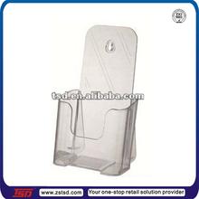 Shop clear table top acrylic 1/3 A4 1 tier brochure display holder