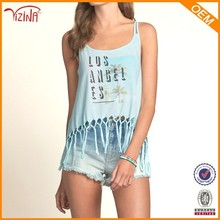 Venta al por mayor sexy girl backless tank top, mujeres tank top a granel
