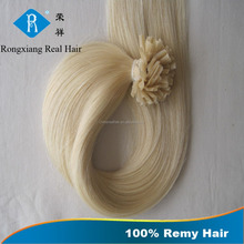 No Shedding Wholesale Factory 100% human hair u tip extensions russian