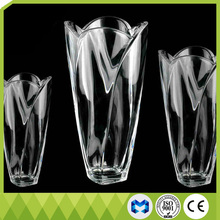 New design modern fashion clear crystal glass vase
