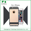 Modern style 2 in 1 dual layer 5 colors TPU+PET cellphone case cover with matel kickstand stand function for iPhone 6 / 6 plus