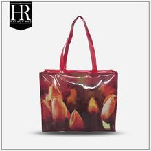 cheap photo printing soft pvc gift bag with zipper