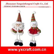 christmas decoration (ZY15Y150-1-2) Christmas santa and snowman