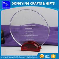 Personalized Name Engraving Custom Made Crystal Award Plaque
