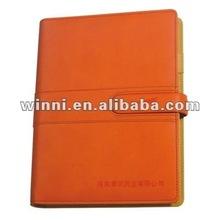 orange color notebook