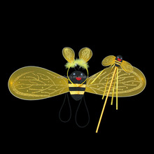 Cute bee wings costume light up carnival wings wholesale QFW-1024
