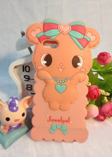 Silicone cute little bear mobile phone case for iphone