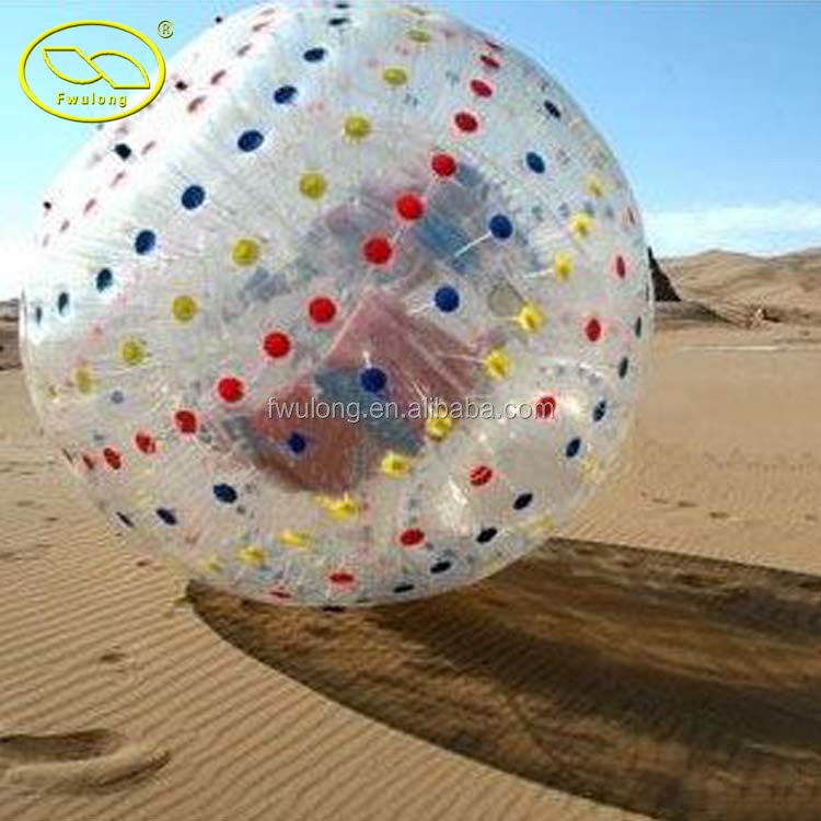 Good quality inflatable grass zorb ball for sale