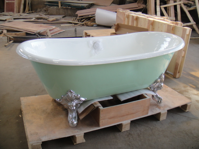 Fonte baignoire petite baignoire sur pieds lumi re for Baignoire classique prix