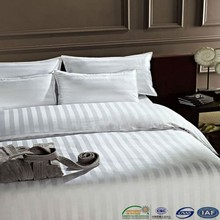 fashion design factory made white color satin luxury hotel bedding