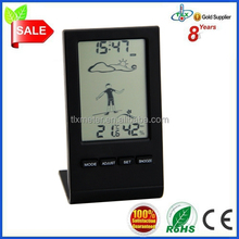 Digital Wireless Thermometer Temperature Weather Station with Remote Sensor and Dress-for-Weather Icons