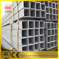 ERW welding galvanized 60*60 mm square mild steel pipes