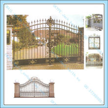 Elegant Vintage Wrought Iron Stair Handrail