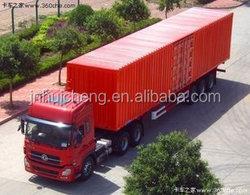 Best Quality 3 axle bulk cargo semi trailer / store house bar semi trailer / strong box truck trailer for cattle transportation