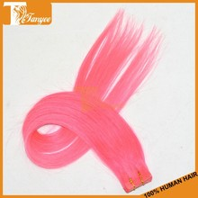 Grade 5A human remy ombre color hair yellow russian hair tape hair extensions