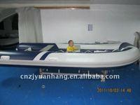 pvc / hypalon tube rigid hull front cabin inflatable fiberglass boat