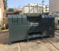 New stable structure double shaft shredder for crushing wood chipper/ pallet with good cutting effect