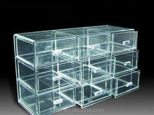 clear lucite large square makeup storage box wholesale