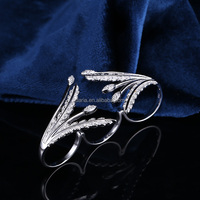 DLY fashion lucky stone ring design 925 silver finger rings photos with zircon