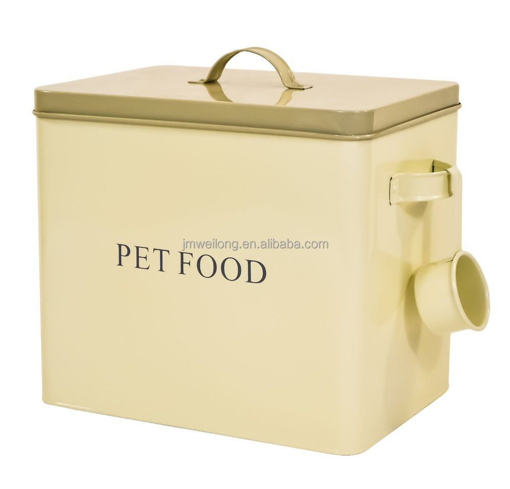 61b4GqFFDOL.  sc 1 st  Alibaba & Large Enamel Dog Pet Dry Food Storage Box Container Tin W/ Scoop ...