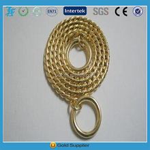 High quality brass snake chain gold and silver color pet collar