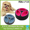 portable novelty folding silicone dog bowl