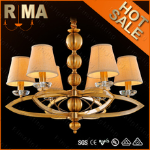 2015 new design gold bronze hanging chandelier, chandeliers made in china for home decoration