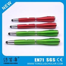 Low price promotional flashlight stylus pen