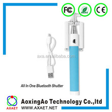 Selfie stick with bluetooth shutter button,selfie stick suitable for smart phones and camera,Portable Selfie stick